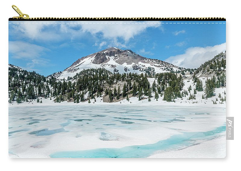 Lassen Volcanic National Park Carry-all Pouch featuring the photograph Frozen by David Kulp