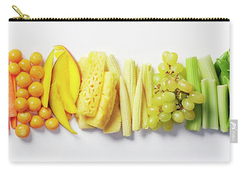 Cherry Carry-all Pouch featuring the photograph Fruit & Vegetable Color Wheel by David Malan
