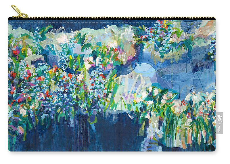 Abstract Carry-all Pouch featuring the painting Full Bloom by Claire Desjardins