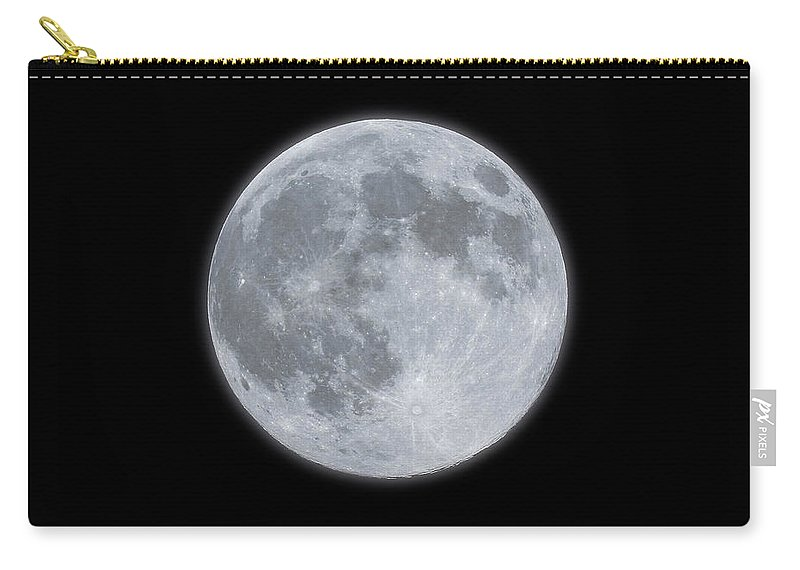 Sky Carry-all Pouch featuring the photograph Full Moon With Glow by Banksphotos