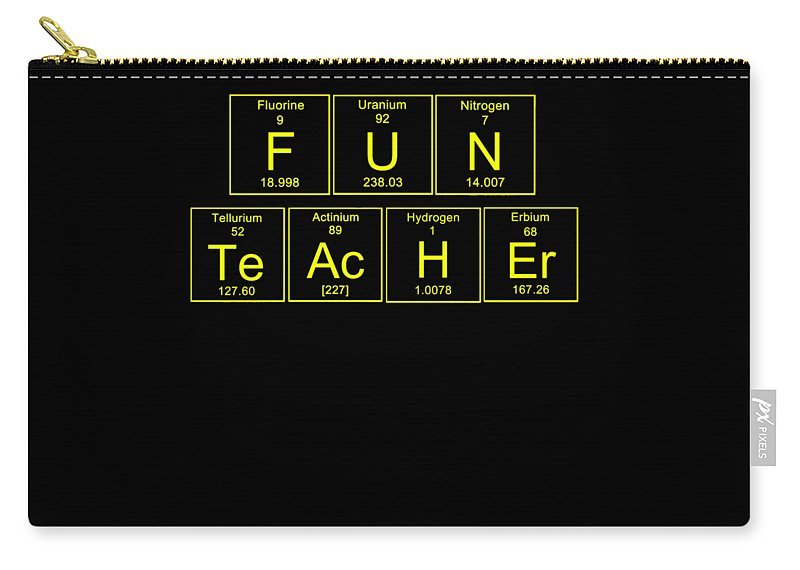 Funny-teachers-aid Carry-all Pouch featuring the digital art Fun Teacher Teachers Assistant Design Yellow by Funny4You
