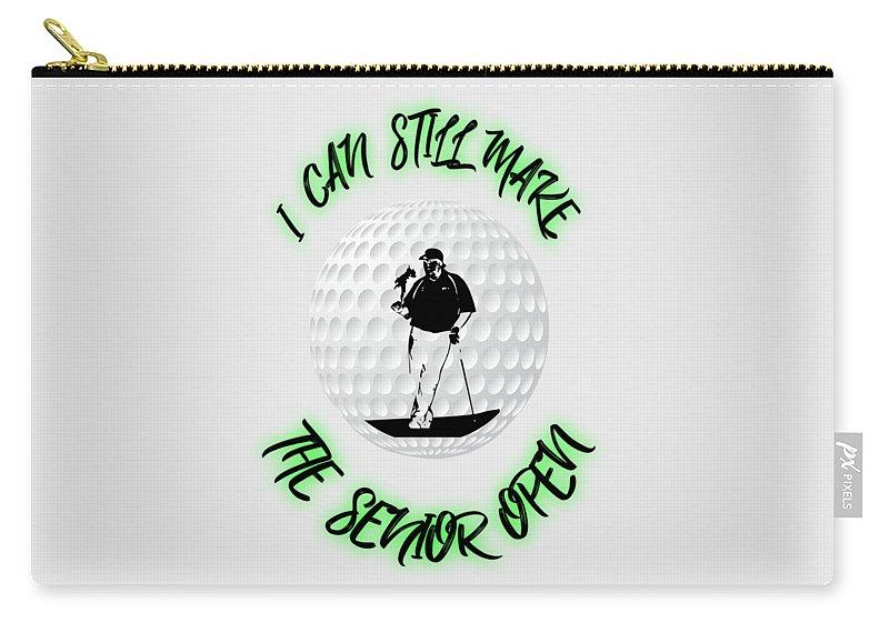 Golf Carry-all Pouch featuring the digital art Funny Golf by Garrett Butler