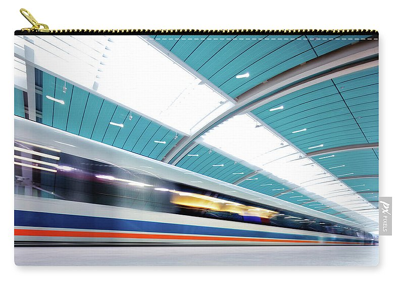 Aerodynamic Carry-all Pouch featuring the photograph Futuristic Train by Nikada