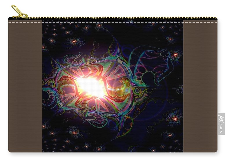 Anitmatter Matter Night Sky Carry-all Pouch featuring the mixed media Galaxy by Zofia Kusch