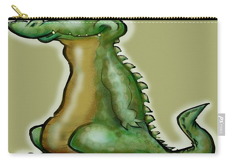 Gator Carry-all Pouch featuring the digital art Gator by Kevin Middleton