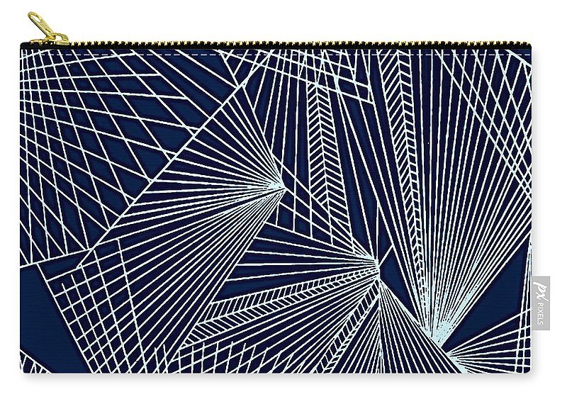 Geometric Patterns Carry-all Pouch featuring the painting Geometric Pattern 1-colour-2 by Katerina Stamatelos
