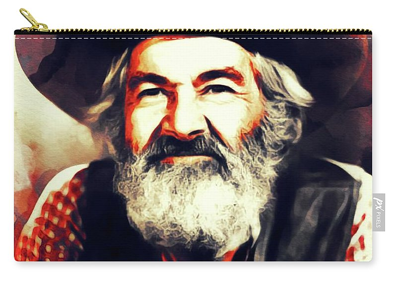 George Carry-all Pouch featuring the painting George Gabby Hayes, Vintage Actor by John Springfield