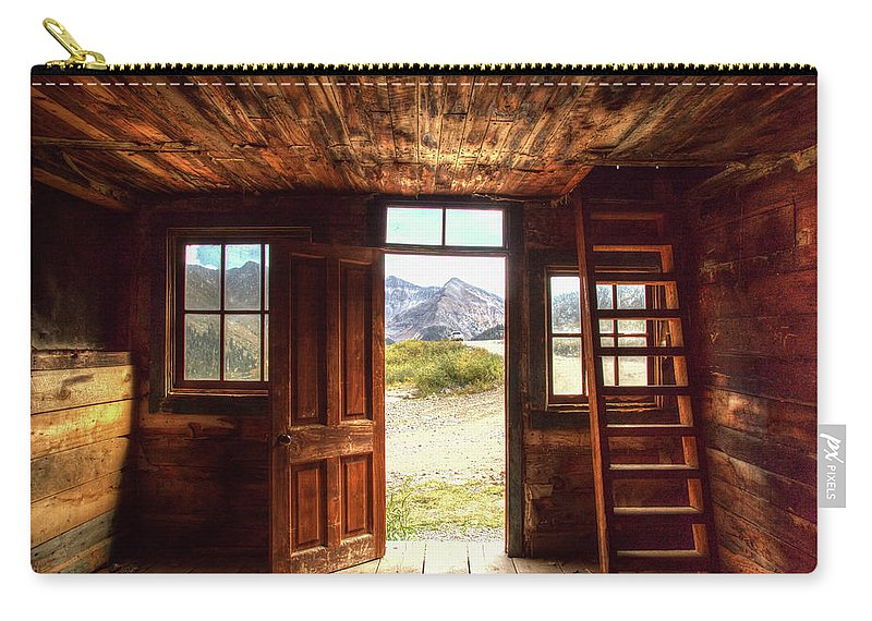 Cabin Carry-all Pouch featuring the photograph Ghost Town Cabin by Jim Allsopp