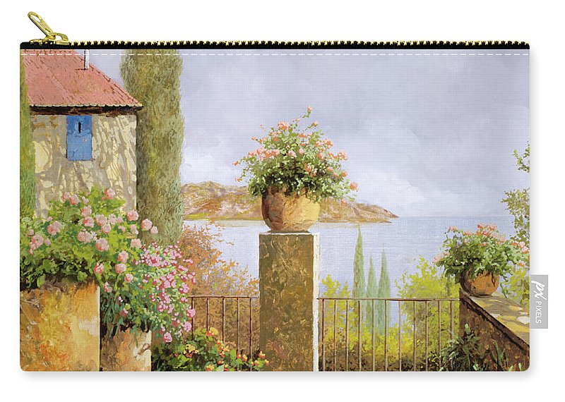 Seascape Carry-all Pouch featuring the painting Giallo Morbido by Guido Borelli