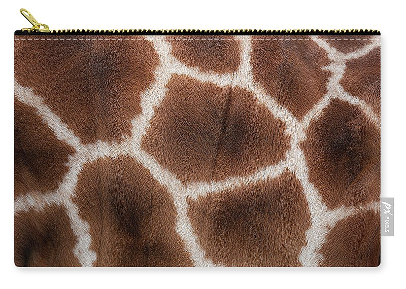 Animal Skin Carry-all Pouch featuring the photograph Giraffes Skin Texture by Andrew Dernie