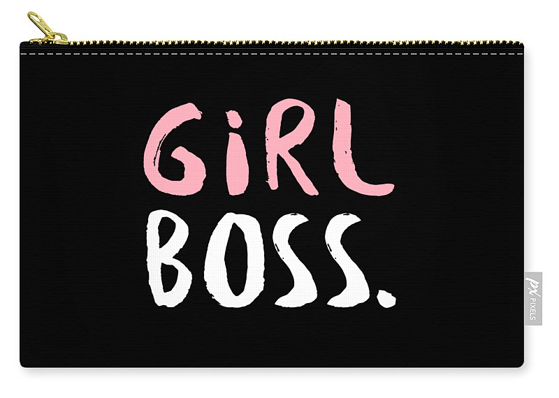 Entrepreneur Carry-all Pouch featuring the digital art Girl Boss by Passion Loft