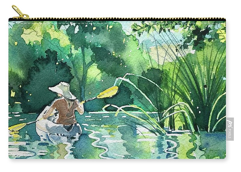 Summer Carry-all Pouch featuring the painting Girl in a Hat by Luisa Millicent