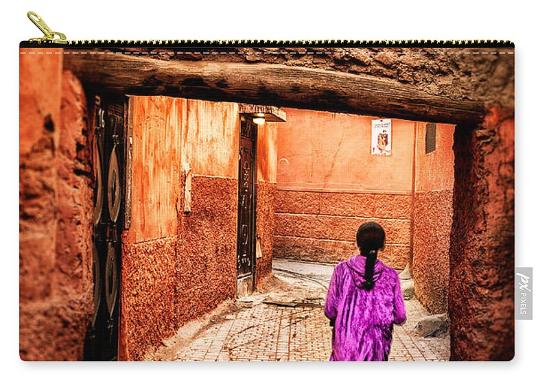 Child Carry-all Pouch featuring the photograph Girl In Marrakech by Nature And Beauty Photographer