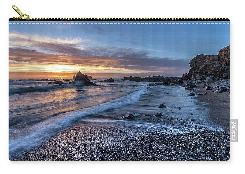 Glass Beach Carry-all Pouch featuring the photograph Glass Beach Sunset by David Kulp