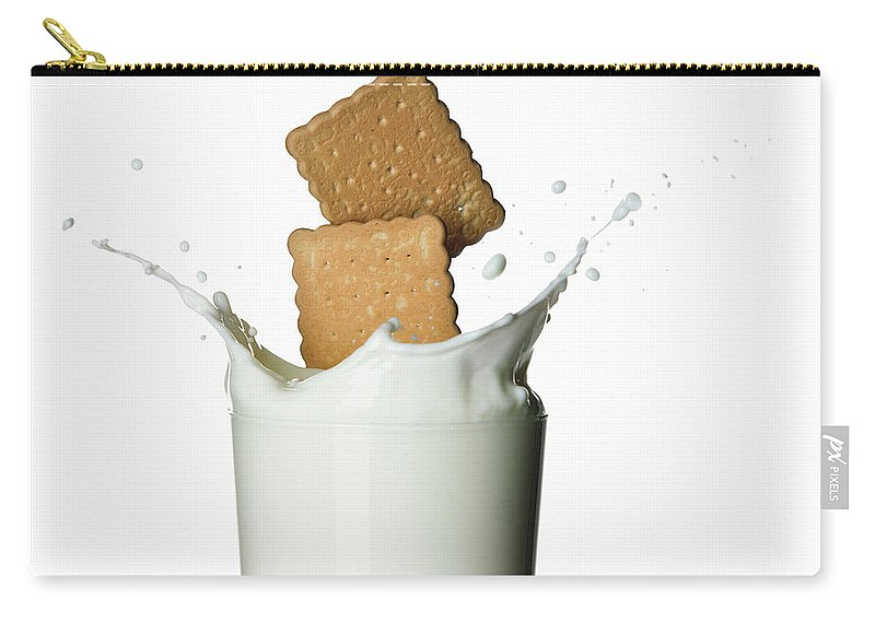 Milk Carry-all Pouch featuring the photograph Glass Of Milk by Buena Vista Images