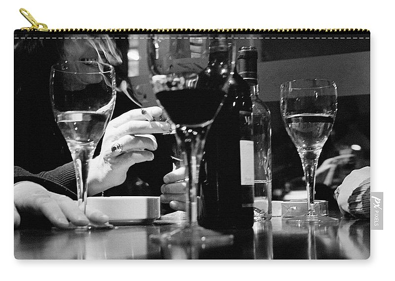 Smoking Carry-all Pouch featuring the photograph Glasses Of Wine by Matt Carr