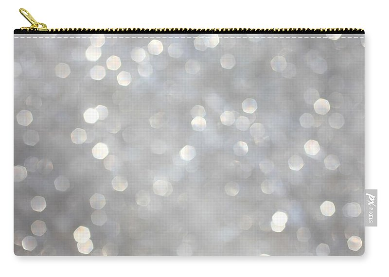 Holiday Carry-all Pouch featuring the photograph Glittery Background by Merrymoonmary