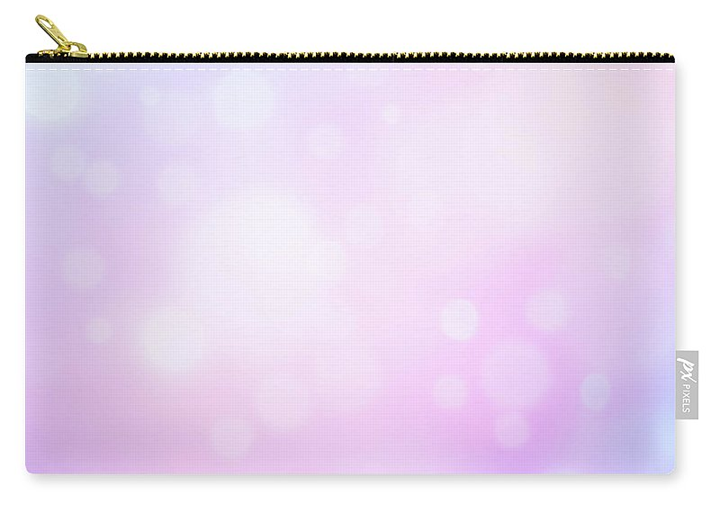 Holiday Carry-all Pouch featuring the photograph Glowing Blue And Pink Abstract by Jeja