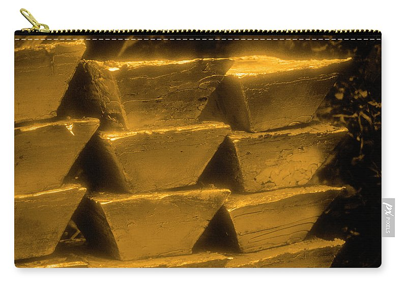 1980-1989 Carry-all Pouch featuring the photograph Gold Bullion Bars by Lyle Leduc