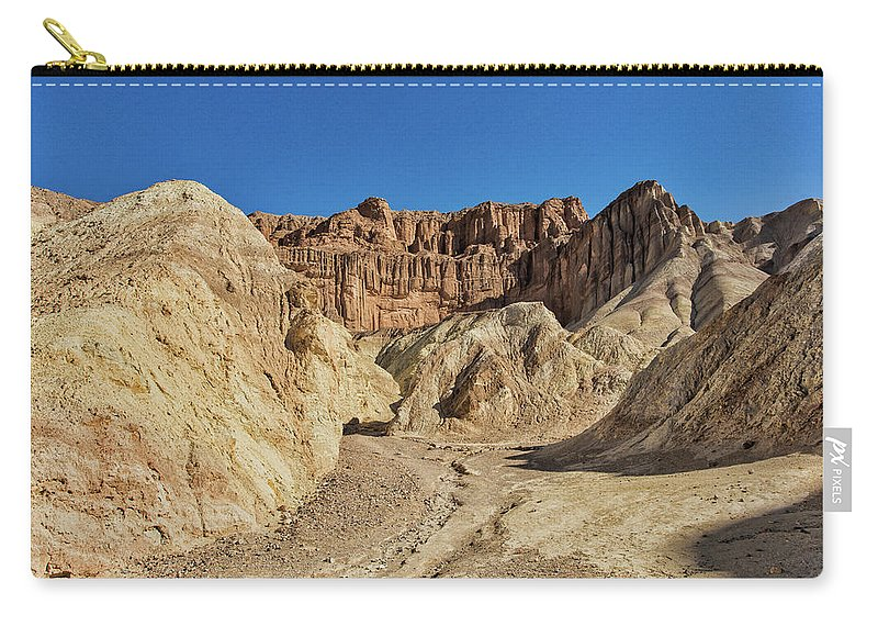 Golden Canyon Carry-all Pouch featuring the photograph Golden Canyon's Red Cathedral by Jurgen Lorenzen