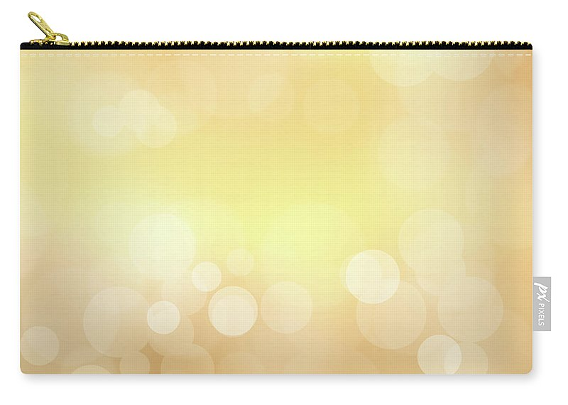 Backdrop Carry-all Pouch featuring the photograph Golden Glitter by Kwaigon