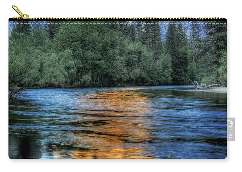 Scenics Carry-all Pouch featuring the photograph Golden Light On Half Dome by Mimi Ditchie Photography