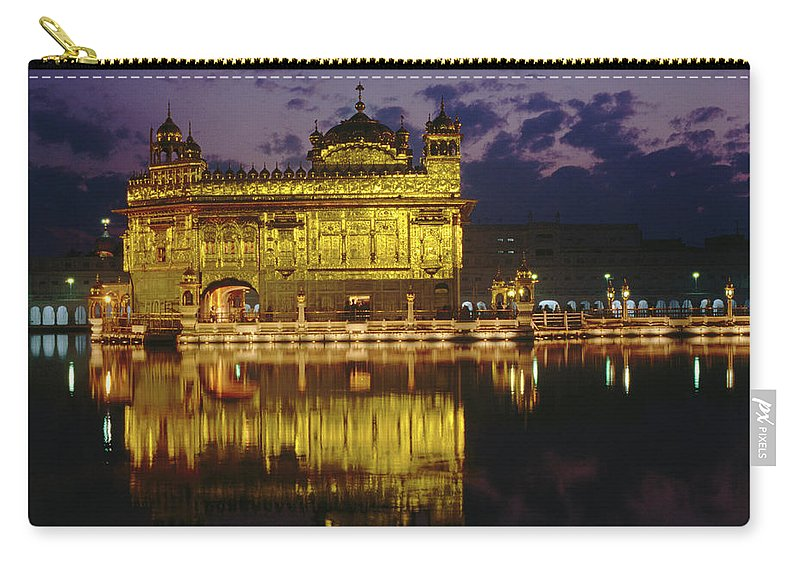 Golden Temple Carry-all Pouch featuring the photograph Golden Temple Harmandir Sahib On by Richard I'anson