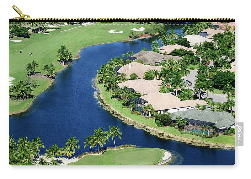 Recreational Pursuit Carry-all Pouch featuring the photograph Golf Course Community by Negaprion