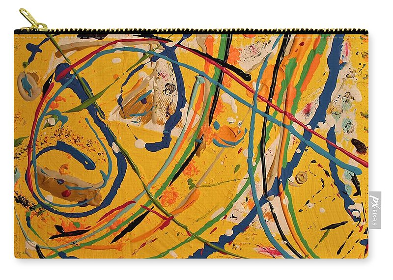 Colorado Carry-all Pouch featuring the painting Gone Fishing by Pam Roth O'Mara