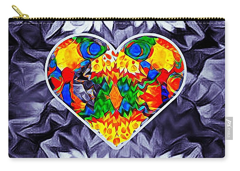 Heart Carry-all Pouch featuring the painting Good Heart by Kim Johnson