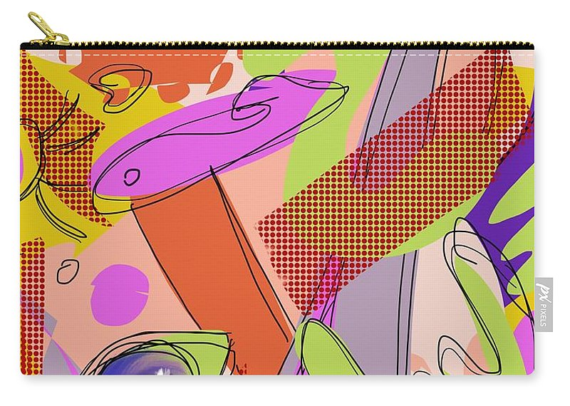 Vision Carry-all Pouch featuring the digital art Good Morning by Mary Jane Mulholland