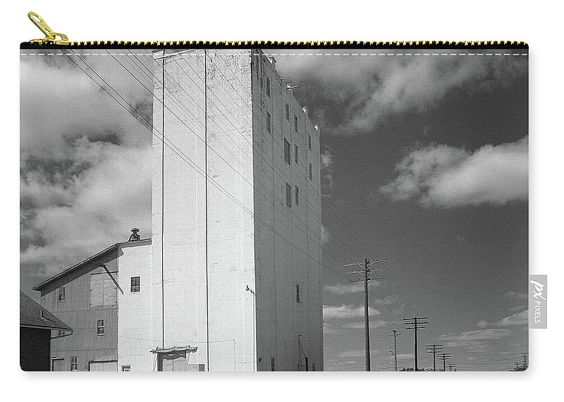 Rural Carry-all Pouch featuring the photograph Grain Elevator, 2001 by Thomas Wyckoff