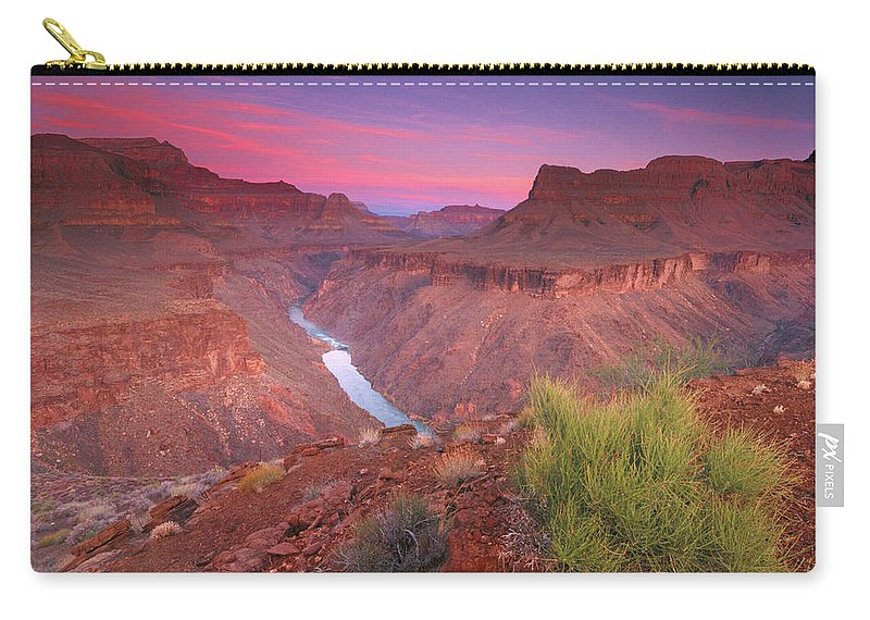 Scenics Carry-all Pouch featuring the photograph Grand Canyon Sunrise by David Kiene