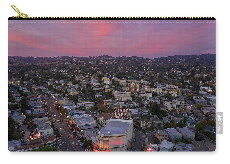 Oakland Carry-all Pouch featuring the photograph Grand Lake Sunset by Sky High Oakland