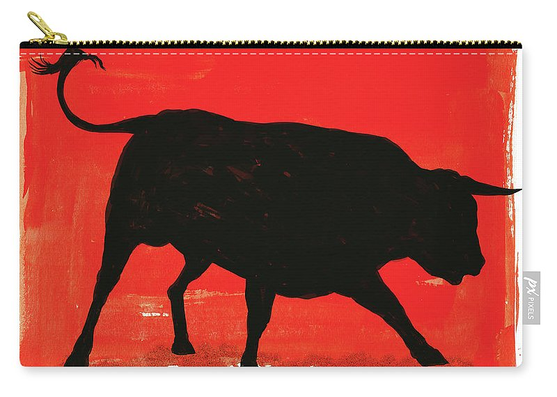 Bull Market Carry-all Pouch featuring the digital art Graphic Bull Illustration by Don Bishop