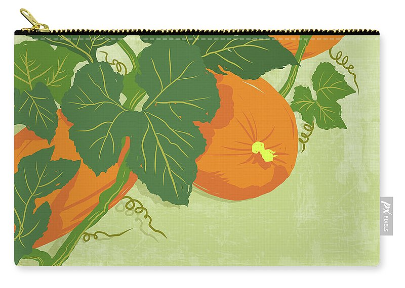 Part Of A Series Carry-all Pouch featuring the digital art Graphic Illustration Of Pumpkins by Don Bishop