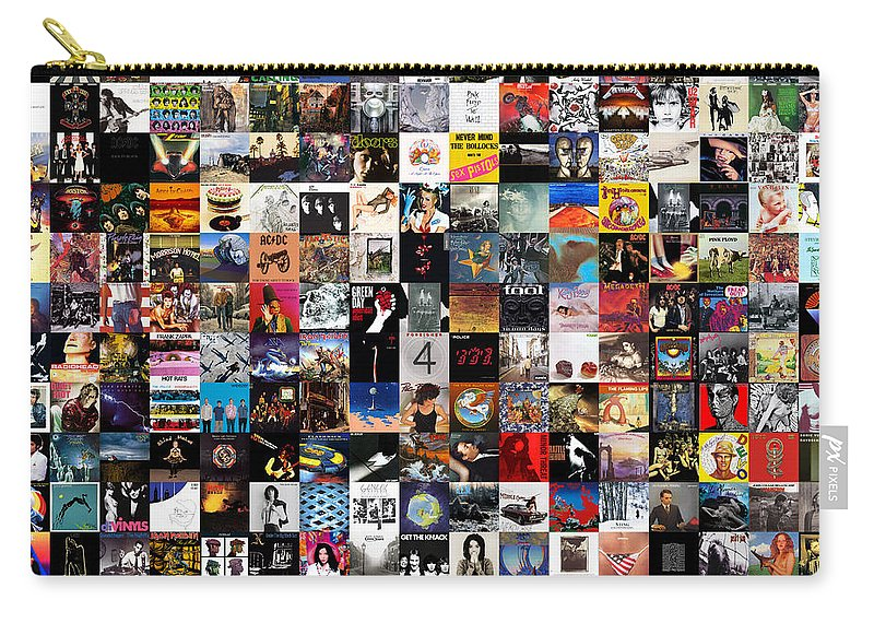Album Covers Carry-all Pouch featuring the digital art Greatest Album Covers Of All Time by Zapista OU