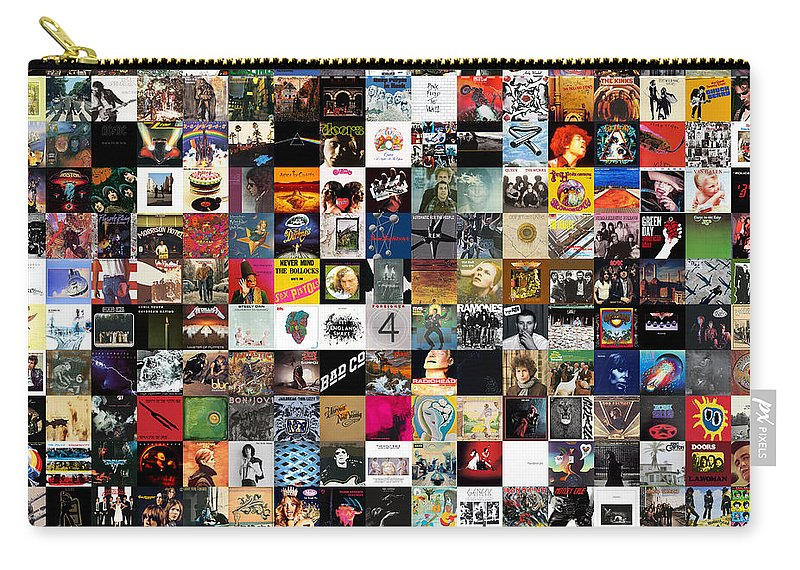 Album Covers Carry-all Pouch featuring the digital art Greatest Rock Albums of All Time by Zapista OU