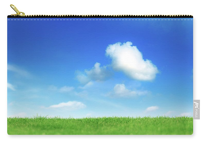 Scenics Carry-all Pouch featuring the photograph Green And Blue by Imagedepotpro