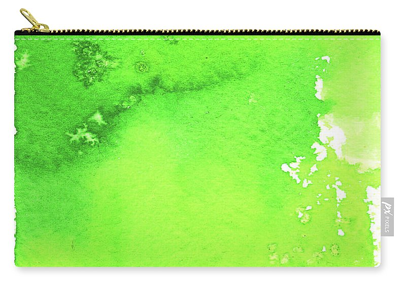 Watercolor Painting Carry-all Pouch featuring the digital art Green Background Spring Blend by Taice