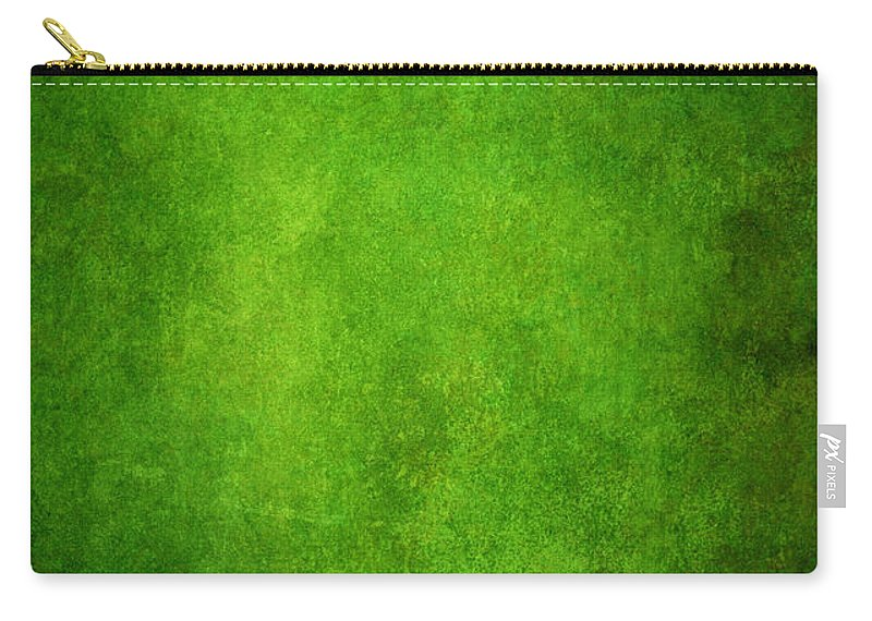Stained Carry-all Pouch featuring the photograph Green Grunge Background by Mammuth