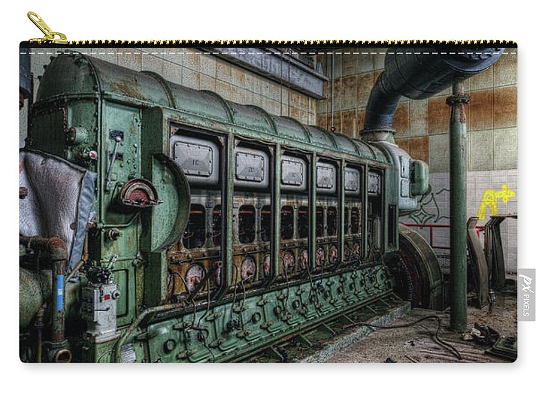 Abandoned Carry-all Pouch featuring the photograph Green Machine by Brian O'Leary