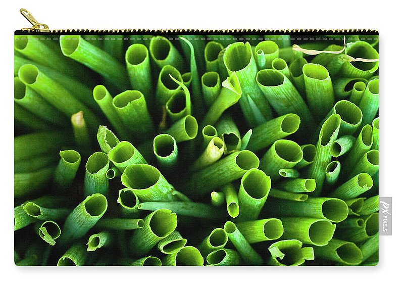 Large Group Of Objects Carry-all Pouch featuring the photograph Green Onions by By Ken Ilio