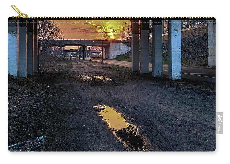 Minneapolis Carry-all Pouch featuring the photograph Greenway Sundown by Joel Friedman