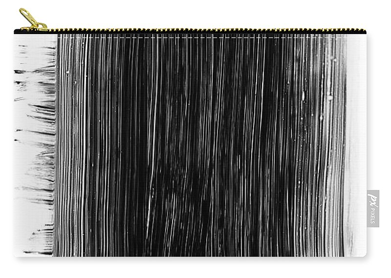Art Carry-all Pouch featuring the photograph Grunge Black Paint Brush Stroke by 77studio