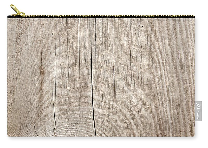Material Carry-all Pouch featuring the photograph Grunge Wood Textured Background With by Hudiemm
