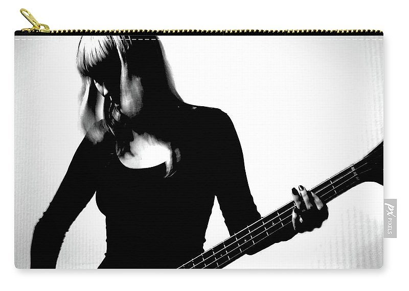 People Carry-all Pouch featuring the photograph Guitar Player by Yulia.m