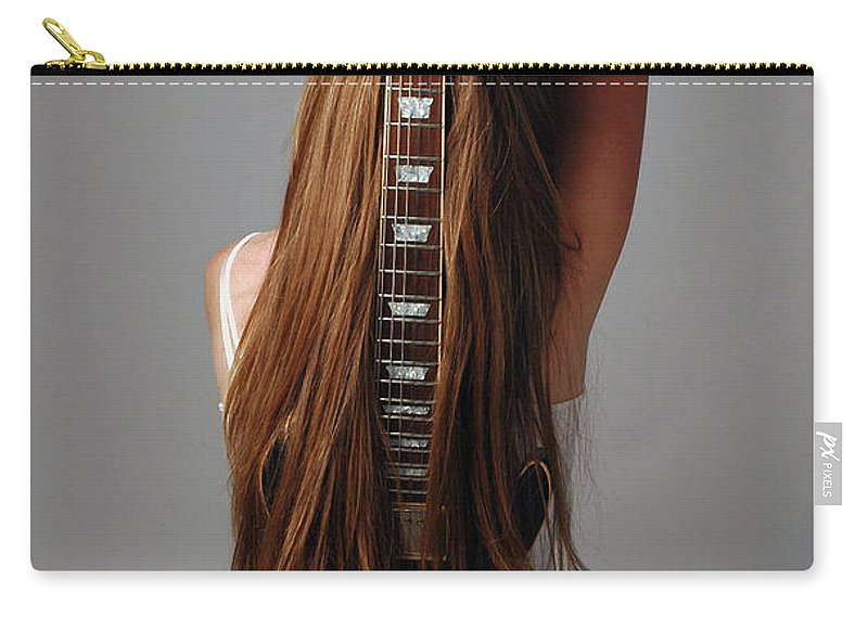 Human Arm Carry-all Pouch featuring the photograph Guitar Shaped Body by Image Taken By Mayte Torres