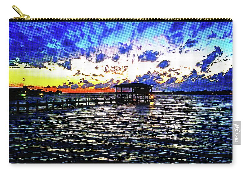 Gulf Shores Carry-all Pouch featuring the photograph Gulf Shores Sunset by Chip Evans