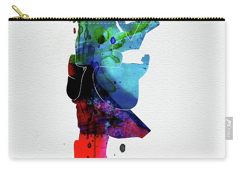 Guns N Roses Carry-all Pouch featuring the digital art Guns Watercolor by Naxart Studio